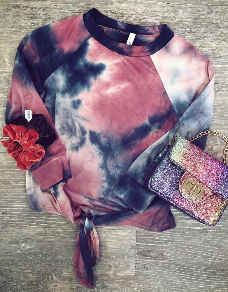G to G Scarlett TieDye Knot Top