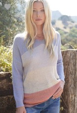 Hayden Knit Colorblock Sweater Top