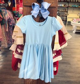 Charlies Project Solid Jersey Knit Hugs Dress in Cinderella Blue