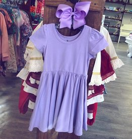 Charlies Project Solid Jersey Knit Hugs Dress in Lavender