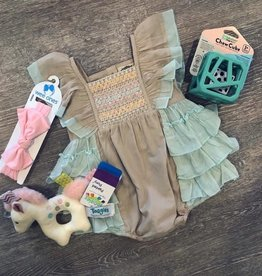 Little Prim Sky Blue Bisque Maya Romper