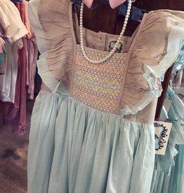 Little Prim Sky Blue Bisque Coya Maxi Dress