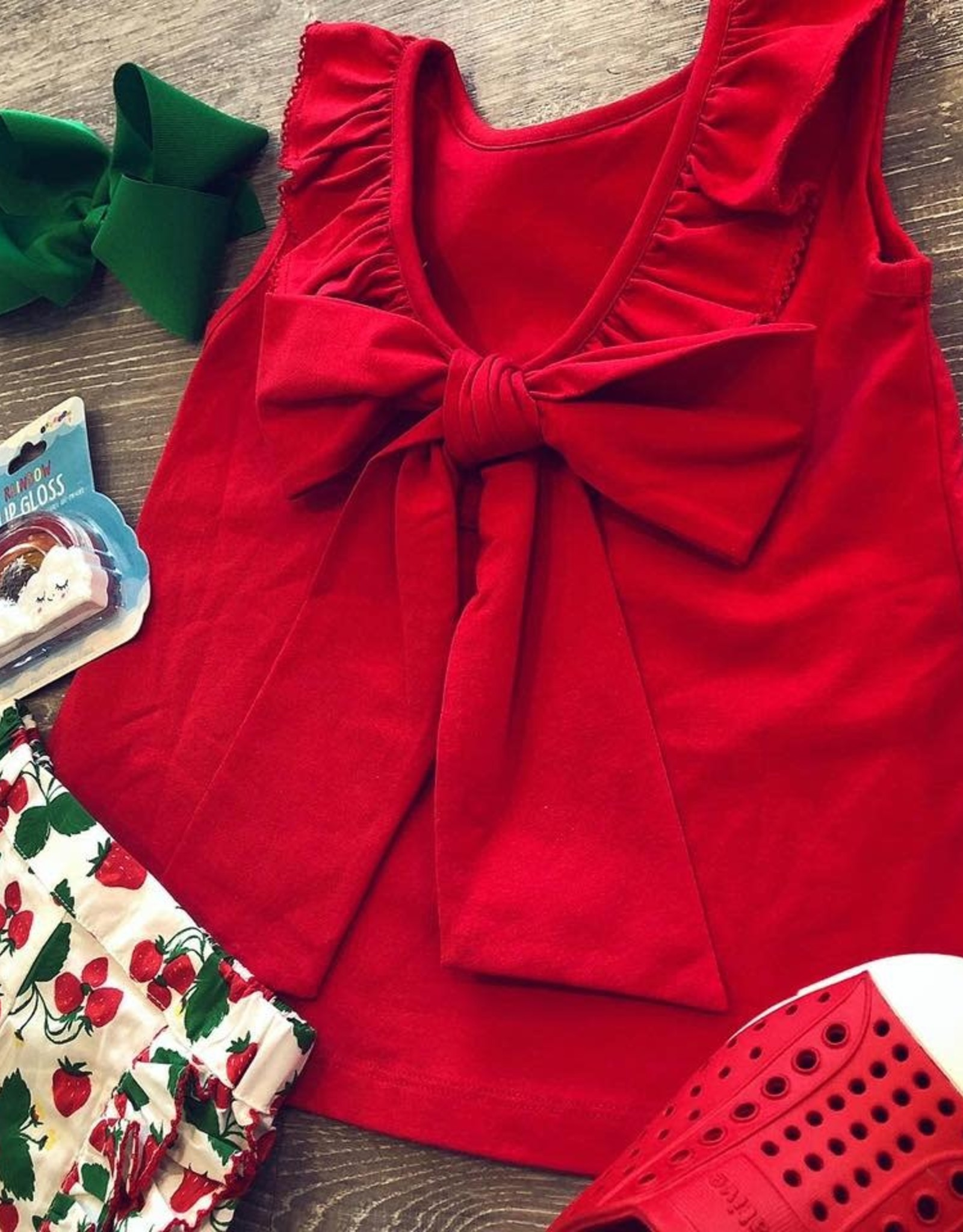 Sage & Lilly Sweet Strawberry Bow Back Set