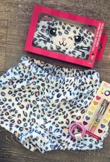 Pastel Leopard Plush Shorts