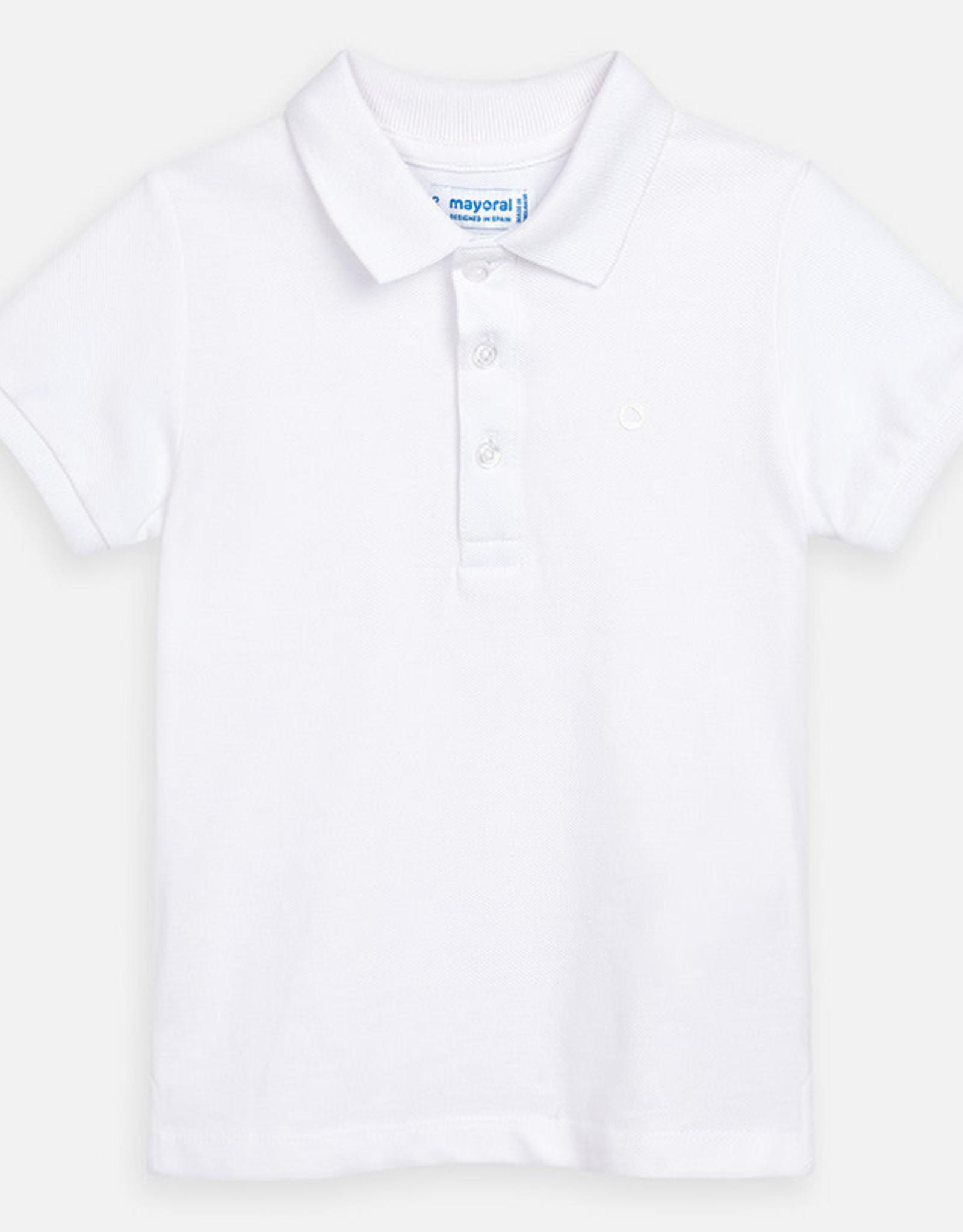 Mayoral Short Sleeve Polo Shirt - White
