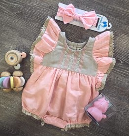 Little Prim Bubblegum Bisque Dilly Romper
