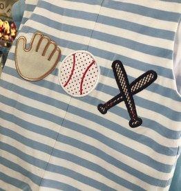 True Baseball Applique Shortall
