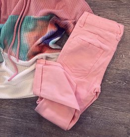 Cutie Patootie Denim Pants in Light Pink