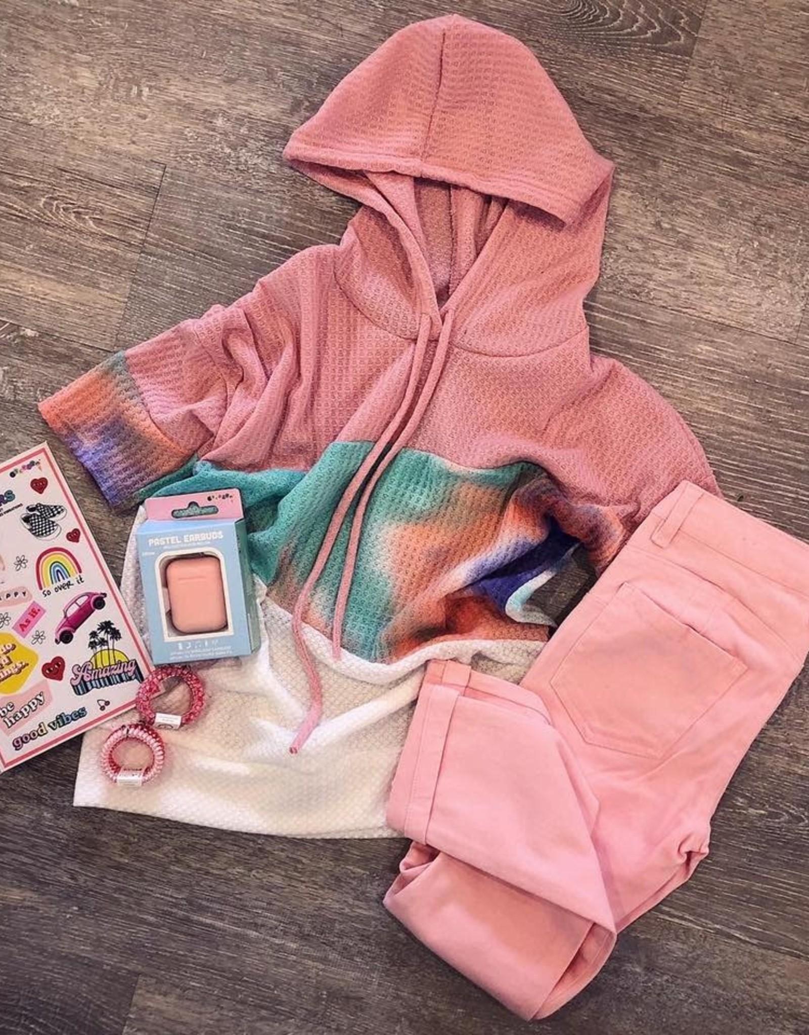 Cutie Patootie Denim Pants in Light Pink