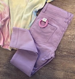 Cutie Patootie Denim Pants in Lilac