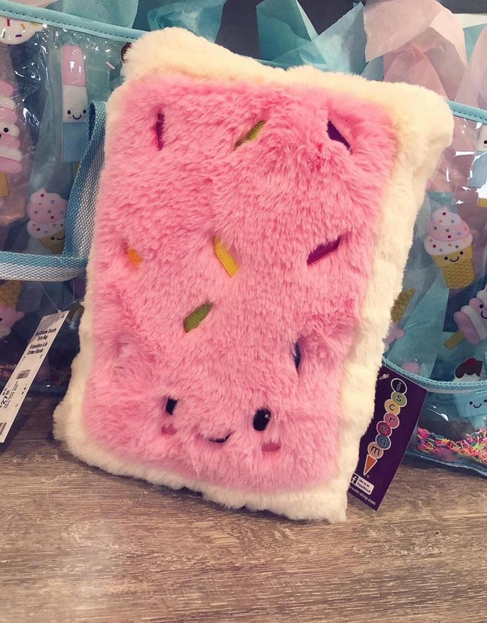 Iscream Toaster Cake Furry Pillow