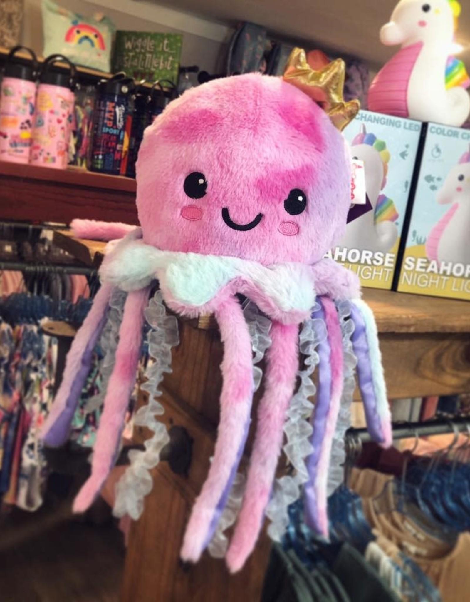 Iscream Jellyfish Furry Pillow