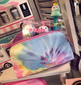 Iscream Pastel Tie Dye Oval Small Cosmetic Bag
