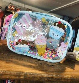 Iscream Ice Cream Treats Clear Small Cosmetic Bag