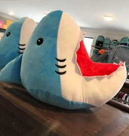 Iscream Shark Bite Furry Pillow