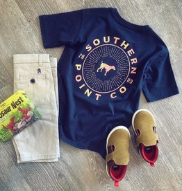 Southern Point Co. Circle Burst Tee in Vintage Navy