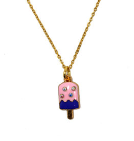 Zomi Gems Strawberry Popsicle Necklace