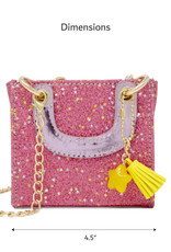 Zomi Gems Tiny Square Tassel Bag Pink