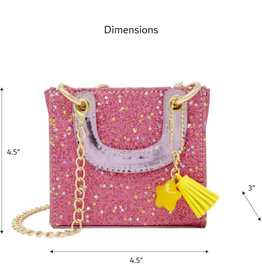 Zomi Gems Tiny Square Tassel Bag Pink
