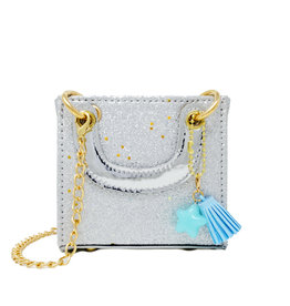 Zomi Gems Tiny Square Tassel Bag Silver