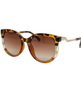 Zomi Gems Orange Black Leopard Sunglasses