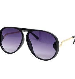 Zomi Gems Black Gold Aviator Sunglasses