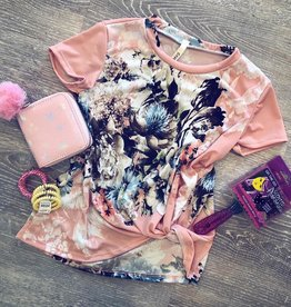 G to G Sadie Floral Top in Pink