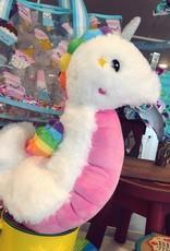 Iscream Seahorse Furry Pillow