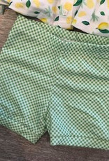 Be Girl Clothing Green Gingham Shorties