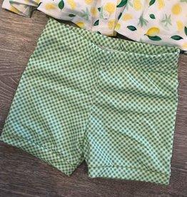 Be Girl Clothing Green Gingham Shorties