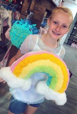 Iscream Rainbow Furry Pillow
