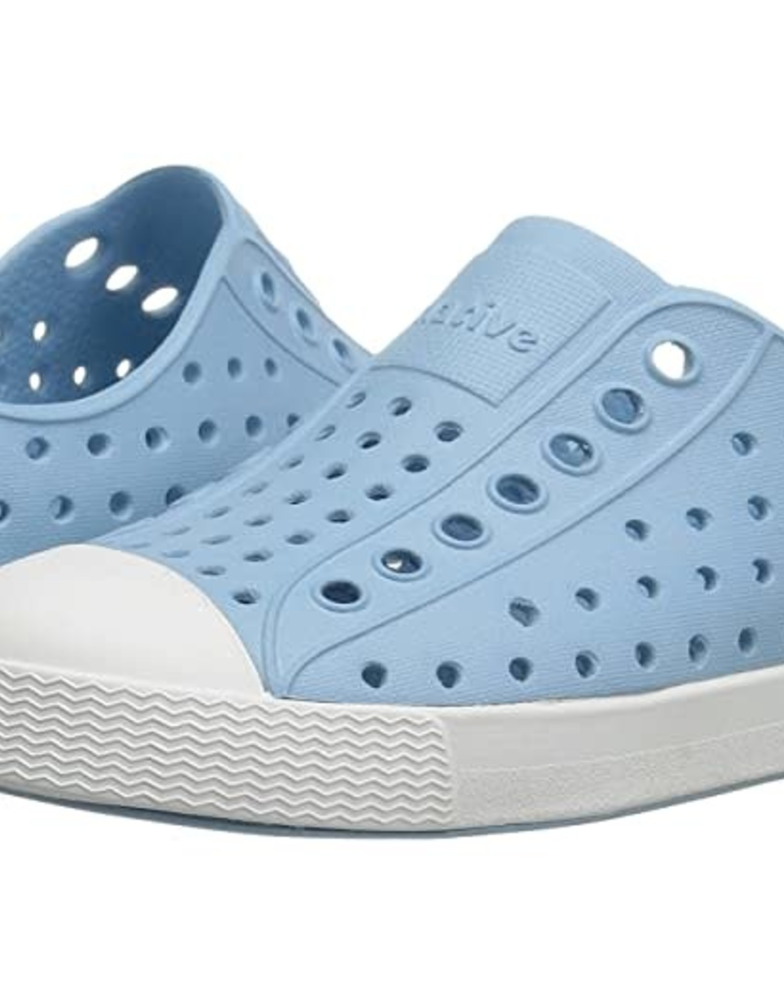 Native Shoes Jefferson in Sky Blue/Shell White