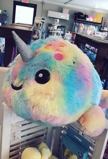 Iscream Tie Dye Narwhal Stuffed Scented Animal