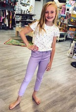 Cutie Patootie Denim Pants in Lilac
