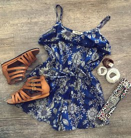 Angie Jennifer Romper in Blue