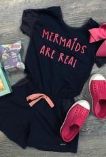 Mermaids Are Real Romper in Blue
