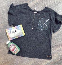 Star Pocket Tee in Grey