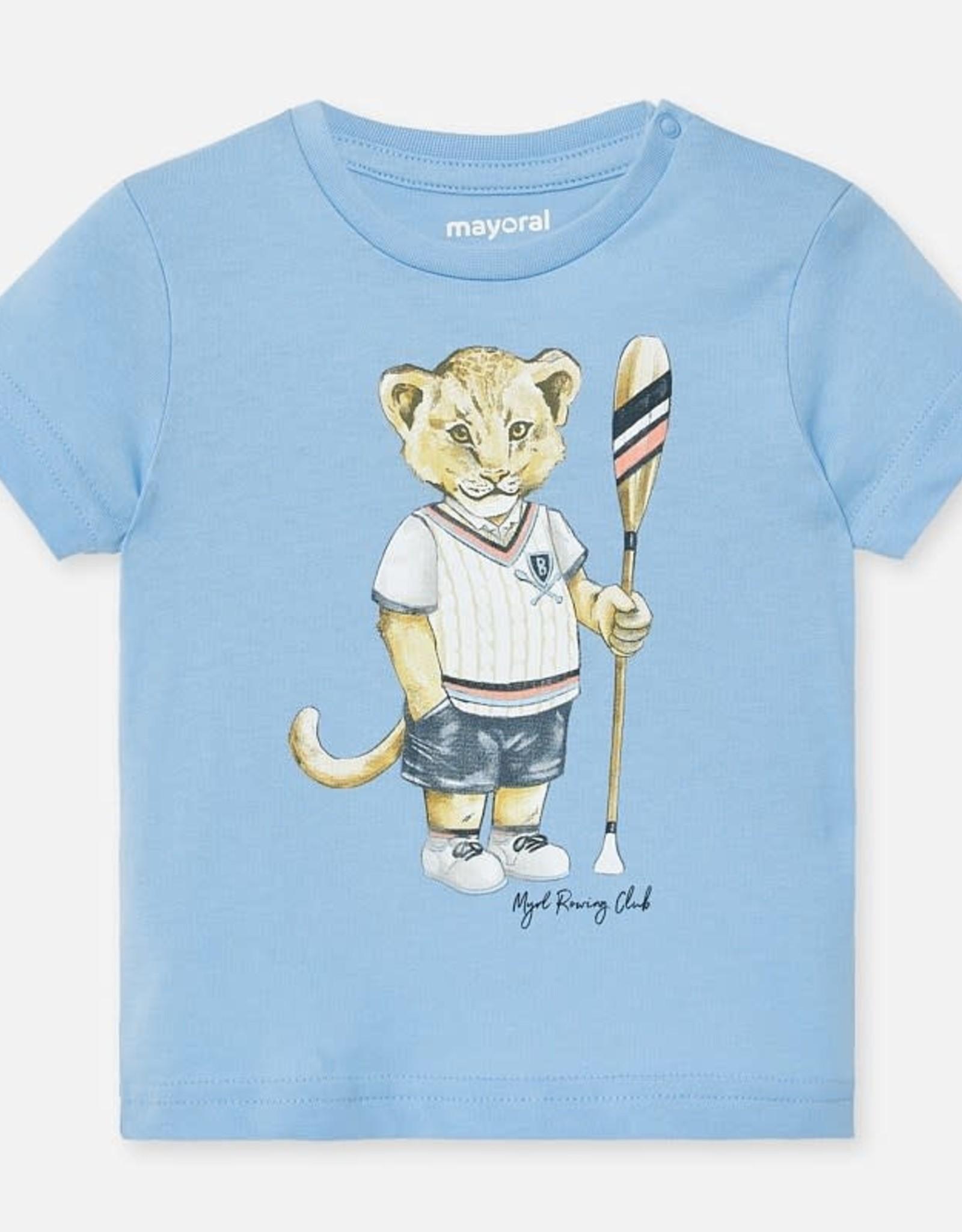Mayoral Short Sleeve Sky Blue T-Shirt