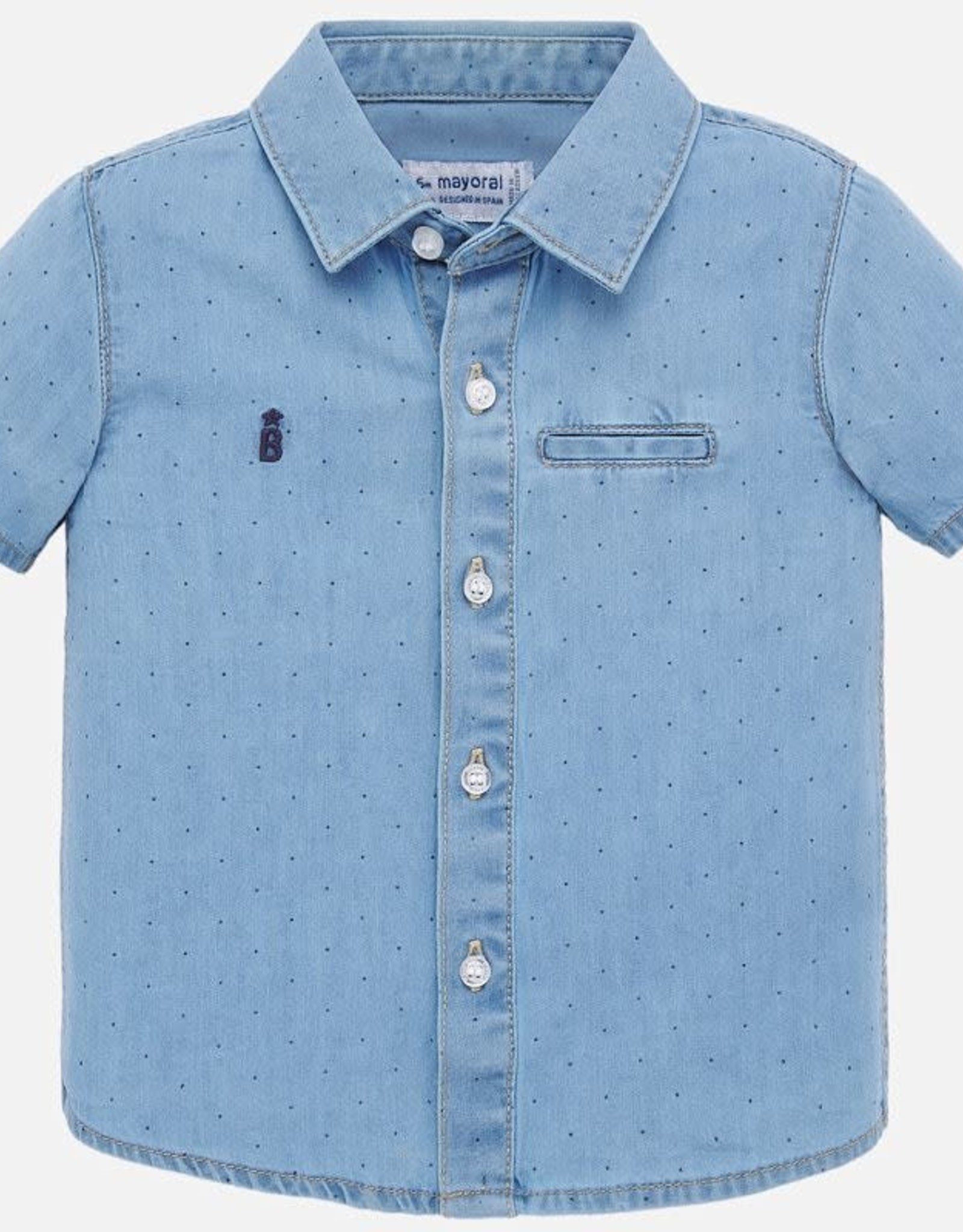 Mayoral Short Sleeve Denim Shirt