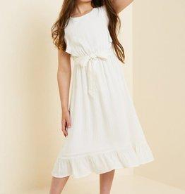 Hayden Belted Ruffle Sleeve Maxi Dress