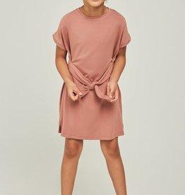 Hayden Short Sleeve Tie-Front T-Shirt Dress