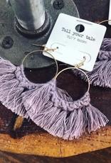 Crochet Earring in Lavender