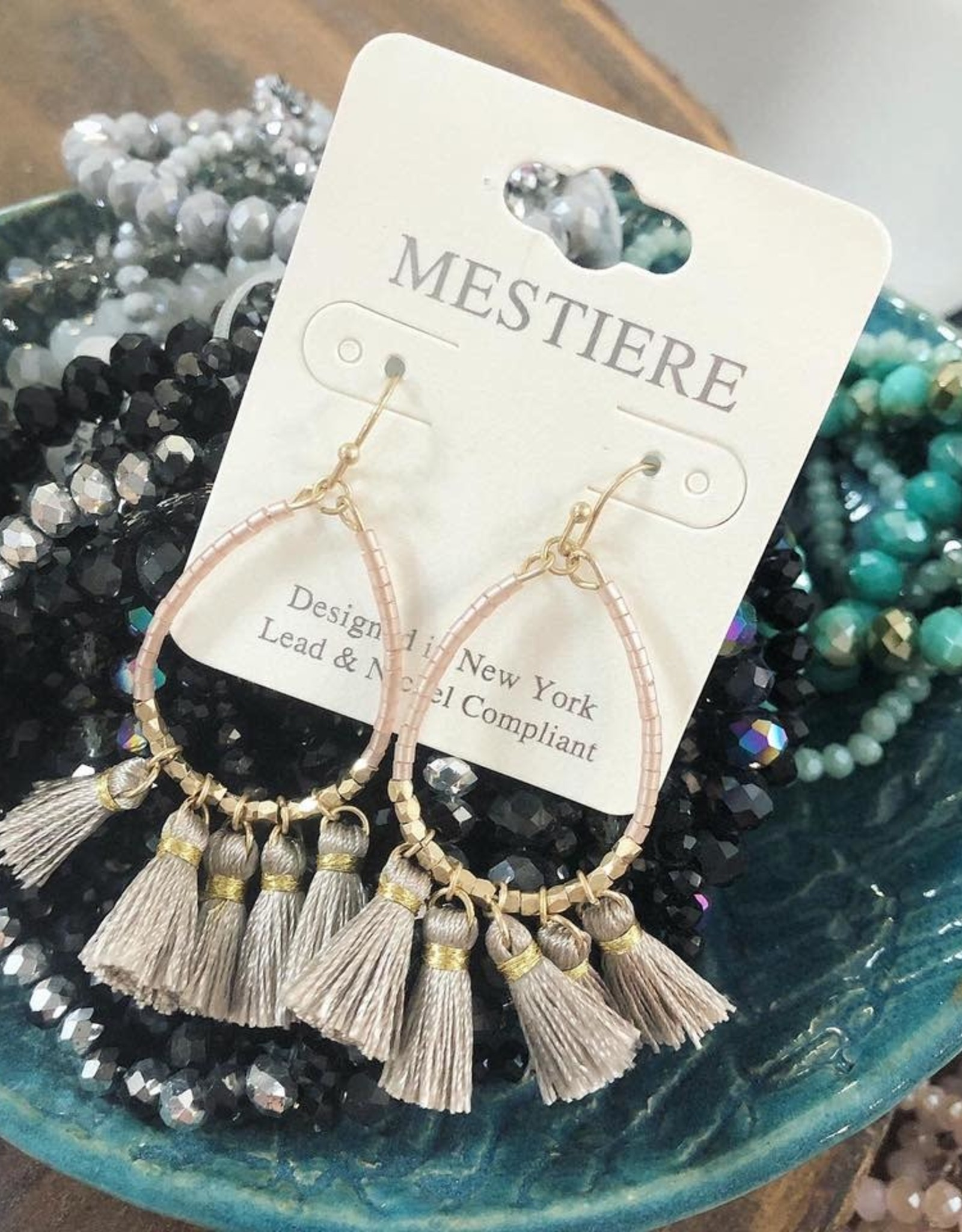 Taupe Circle Earring
