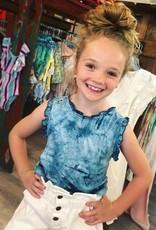 Hayden Aubrey Tie Dye Top in Blue