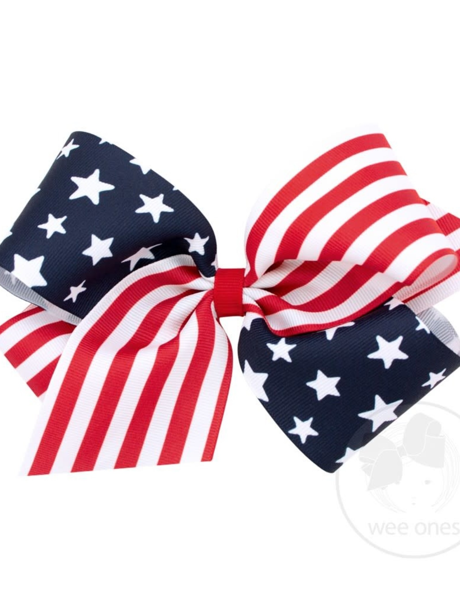 WeeOnes King Size Stars & Stripes Bow