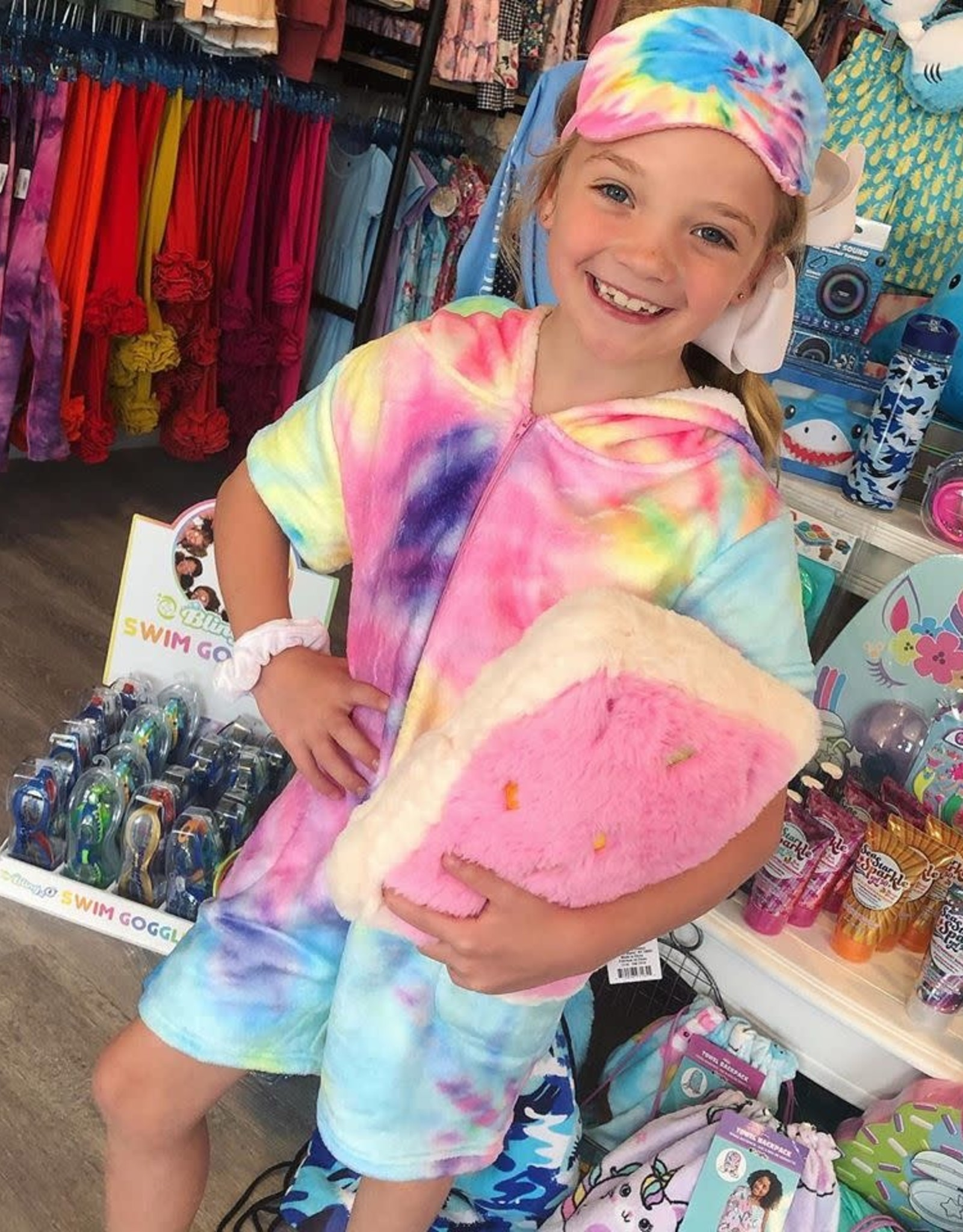 Iscream Pastel Tie Dye Plush Romper