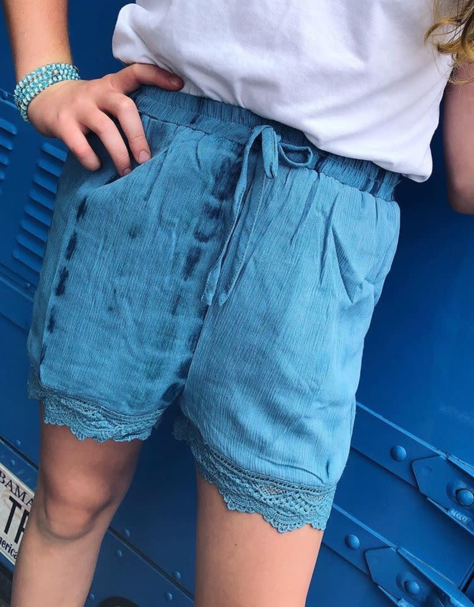 Hayden Sandy Blue Tie Dye Shorts