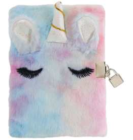 Iscream Unicorn Furry Lock & Key Journal