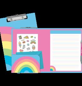 Iscream Rainbow Clipboard Set