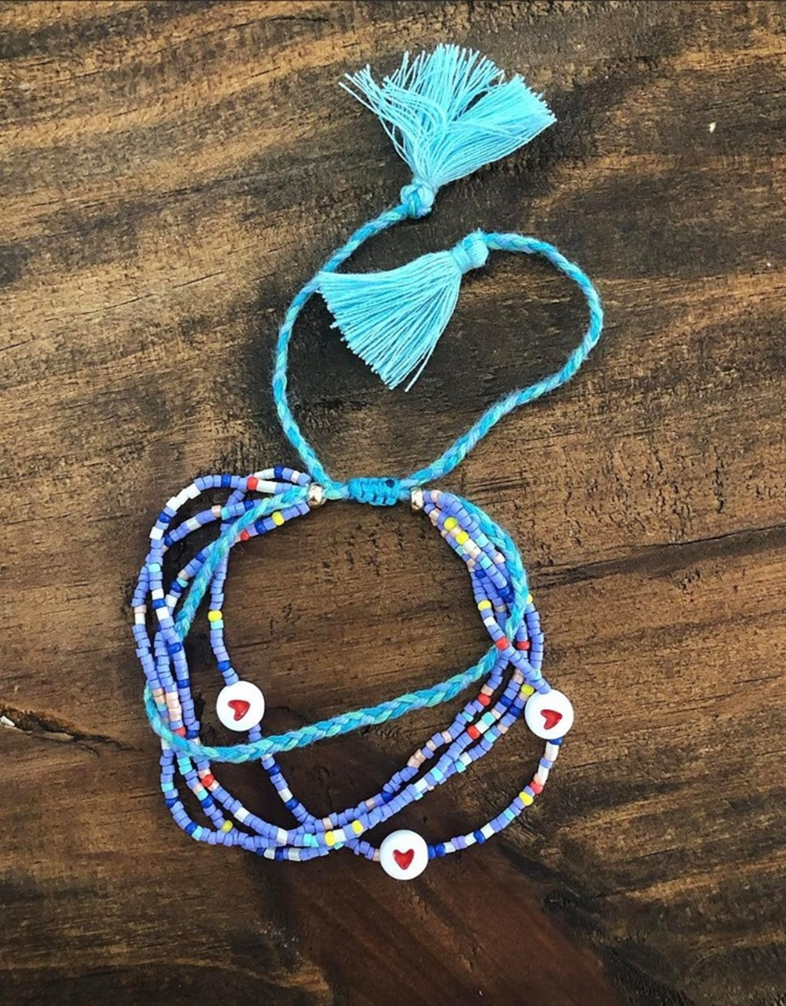 SeadBeed Heart Bracelet in Blue
